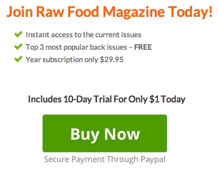 Raw Food Magazine 10 days trial